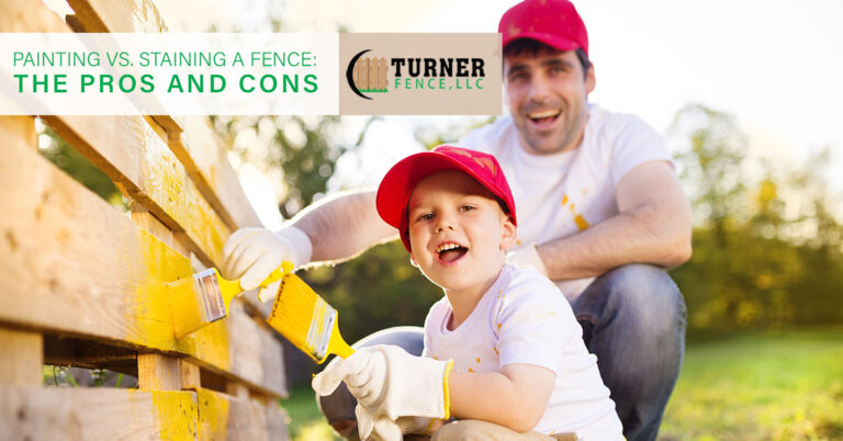 Read more about the article Painting vs. Staining a Fence: The Pros and Cons